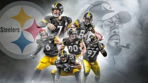 Pittsburgh Steelers Wallpaper with Picture of Players and Coach