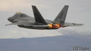 Fighter Jet Wallpaper with Picture of The Lockheed Martin F-22 Raptor