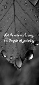 Motivational Wallpaper for Mobile with Quotes about Rain
