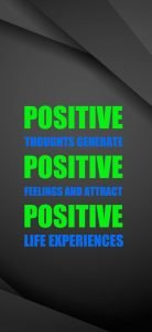 Positive Thinking Wallpapers for Mobile Phones Screen with Dark Background