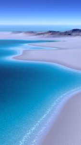 Beach Wallpaper for iPhone - 02 - Beautiful Beach of Blue Ocean