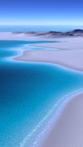 Beach Wallpaper for iPhone - 02 - Beautiful Beach of Blue Ocean