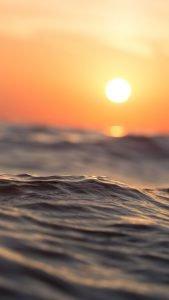 Beach Wallpaper for iPhone - 07 - sunset on Beach