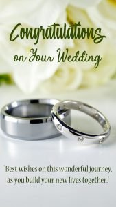 Congratulations Images for Wedding with Rings