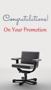 Congratulations Images on Promotion with Picture of Chair
