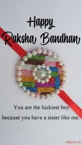Image of Raksha Bandhan Brother with DIY Handmade Rakhi
