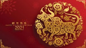 Happy Chinese Lunar New Year Day 2021 - Year of the Ox