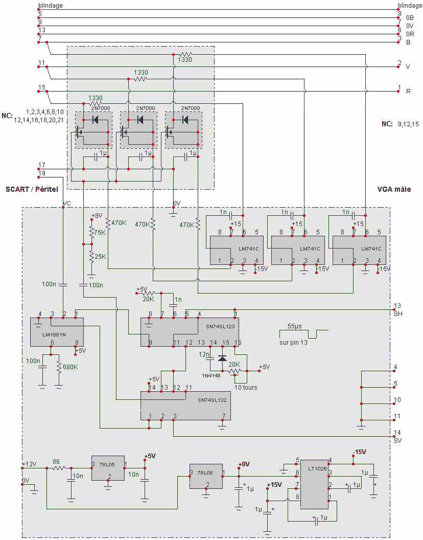 hight resolution of 15 pin highdensity d sub male connector scart to vga converter