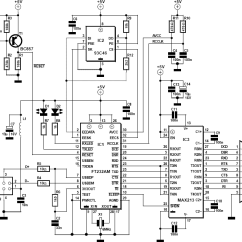 Serial Cable Wiring Diagram Mitsubishi Montero Sport Rs232 To Usb Converter Schematic Allpinouts Rs 232 Adapter