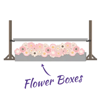 Jump flower boxes