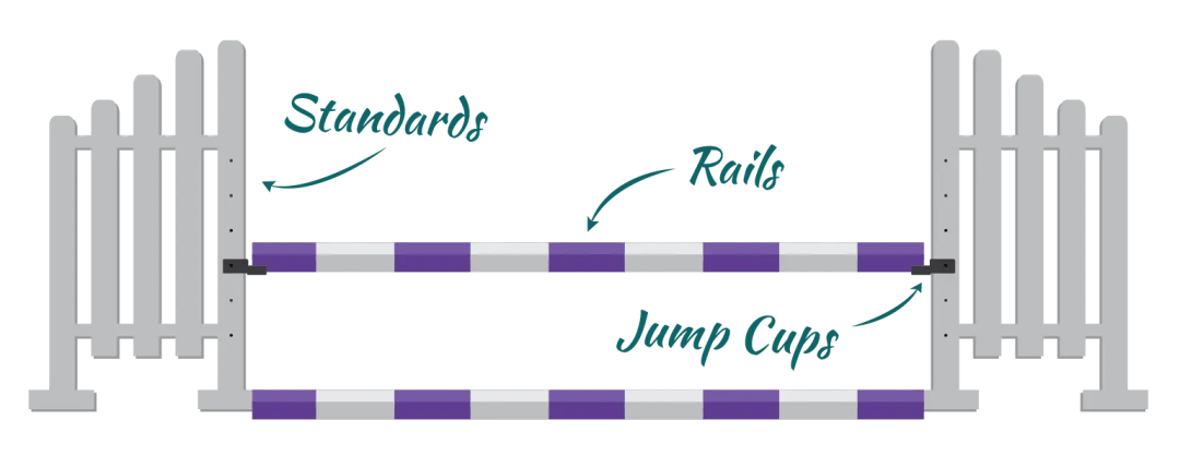 parts of a horse jump