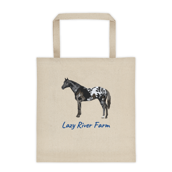 appaloosa horse canvas tote bag customize