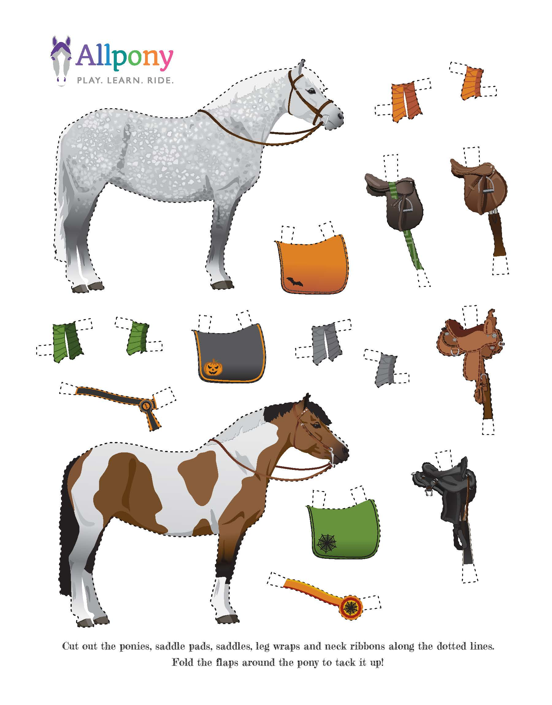 Horsey Halloween & Fall Fun Downloadable Crafts