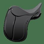 Illustration of a Dressage Saddle