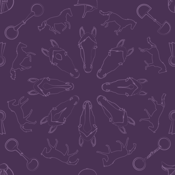 Purple equestrian pattern