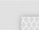 Gray Garden Gate Pattern