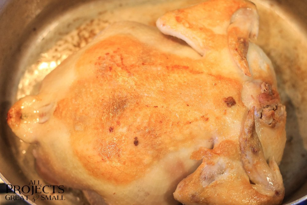 Browned Whole Chicken