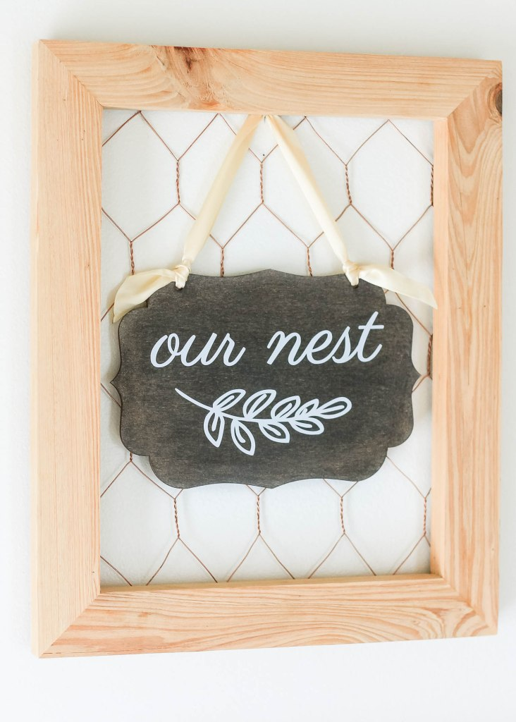 Rustic Our Nest Sign