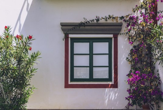 house window painted