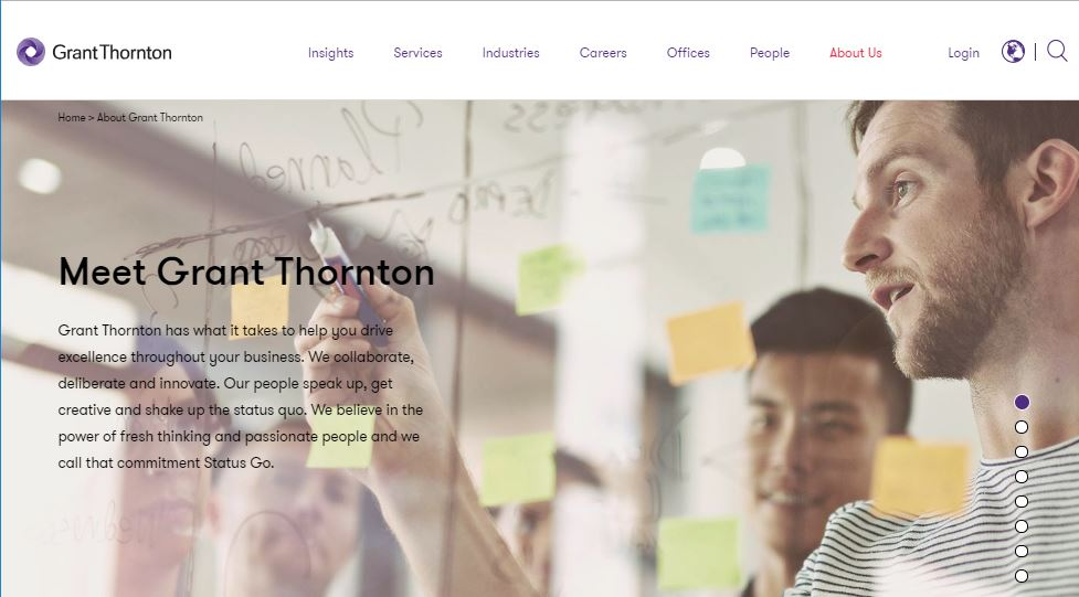 Grant Thornton website screenshot