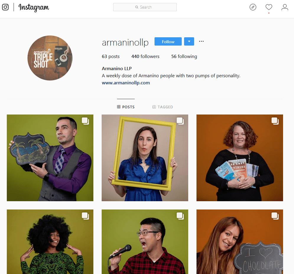 Armanino LLP Instagram screenshot