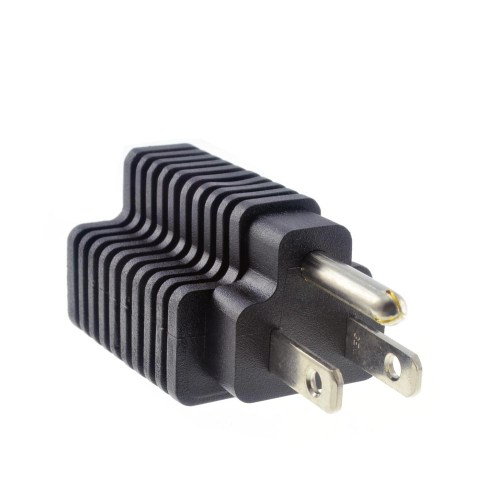 small resolution of plug adapter 15 amp household plug to 20 amp t blade female outlet adapter