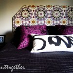 Diy Upholstered Headboard With Nailhead Trim All Put Together