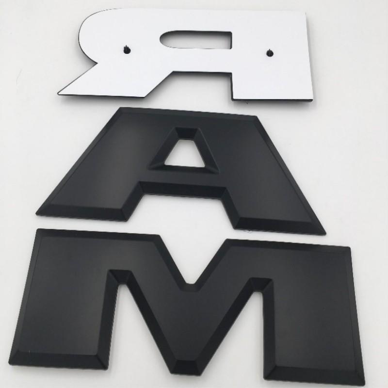 Car Tailgate 3D RAM Letter Logo Sticker Emblem Rear Trunk Badge For Dodge Ram US