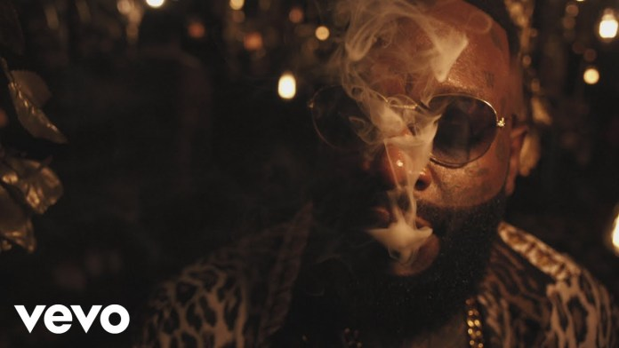 "Rick Ross Drops New Video For His ""Gold Roses"" With Drake image"