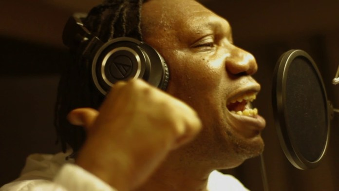 KRS-One in the studio image