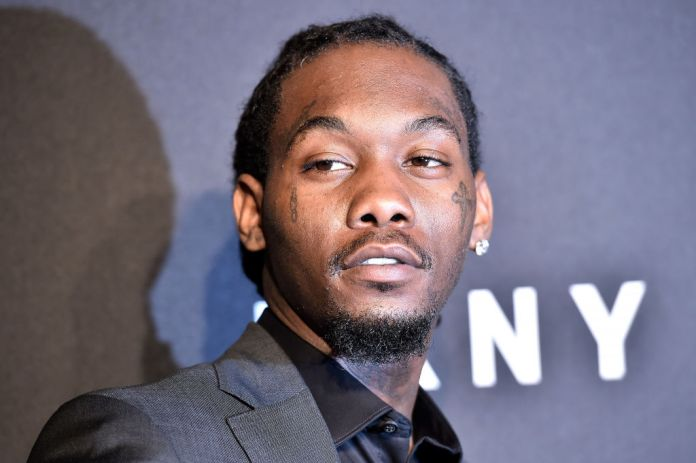 Offset detained by police, video image