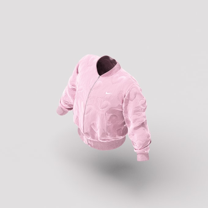 drake nike merch pink jacket