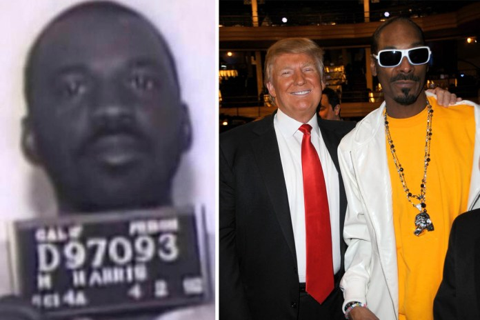 Trump Snoop Dogg Michael Harry O Harris image collage