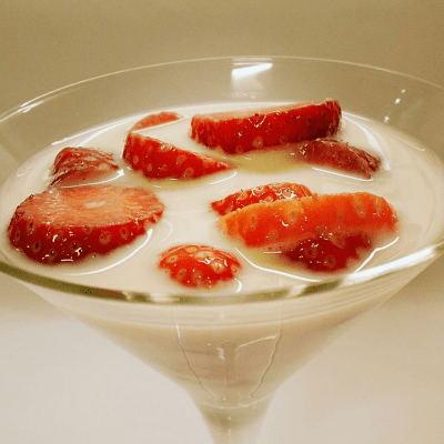 Strawberries in Milk
