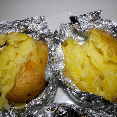 Camp Fire Baked Potatoes