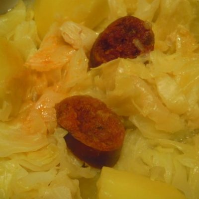 Cabbage with Chorizo