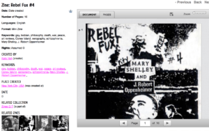QZAP catalog record for Rebel Fux by Kate Huh