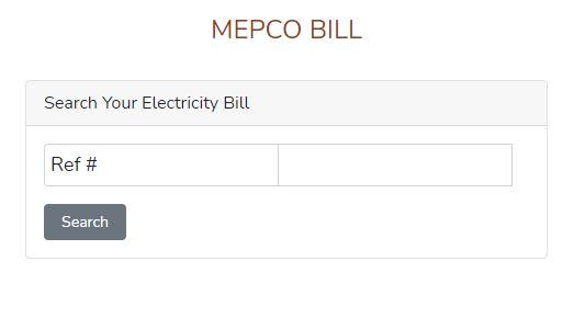 Electricity MEPCO Bill