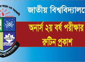 National University Honours 2nd Year Exam Routine