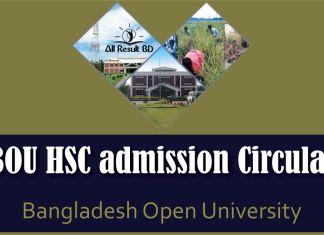 Bangladesh Open University HSC admission Circular
