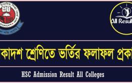 HSC Admission Result 2017 All Colleges | xiclassadmission.gov.bd