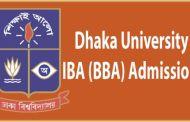 Dhaka University IBA BBA Admission Test Notice 2017-18