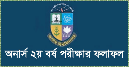 National University Honours 2nd Year Result 2017