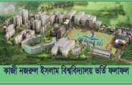 Jatiya Kabi Kazi Nazrul Islam University Admission Test Result 2016-17
