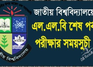 National University LLB Final Exam Routine
