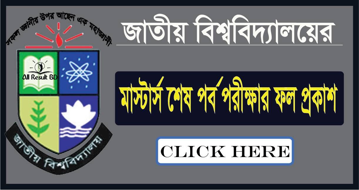 National University Masters Final Result 2013 NU.EDU.BD