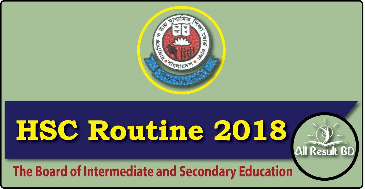 HSC Routine 2018 Dhaka Bangladesh Education Board