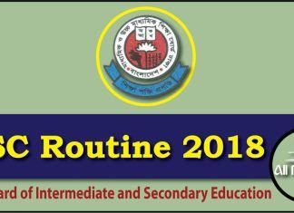 HSC Routine 2018