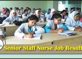 Senior Staff Nurse Job Exam Result
