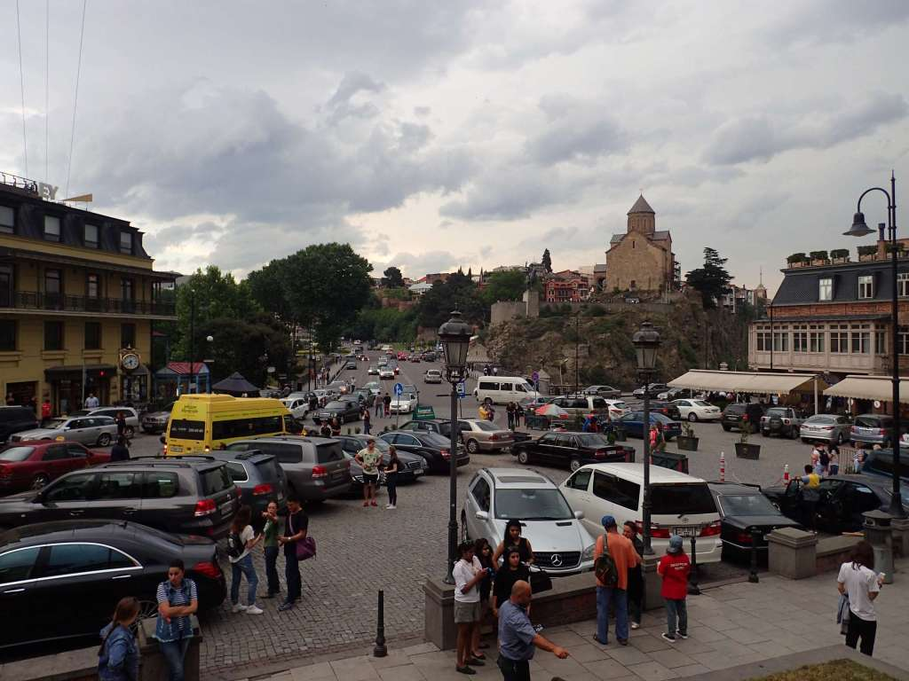 The centre of Tbilisi old town: Liberty Square